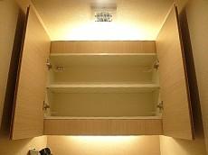 代官山マンション トイレ吊戸棚602