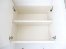 洗濯機置場上の収納