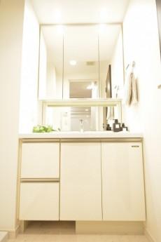 リシェ五反田スカイビュー 4面鏡の洗面化粧台