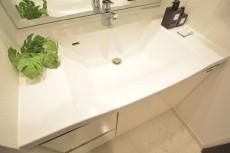 リシェ五反田スカイビュー お掃除しやすいカウンター一体型洗面ボウル