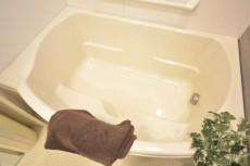 リシェ五反田スカイビュー 半身浴も楽しめるバスタブ。