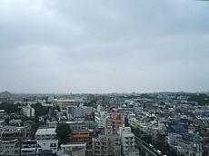松見坂武蔵野マンション 玄関前眺望