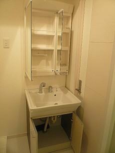 ライオンズマンショングリーン白金 洗面化粧台