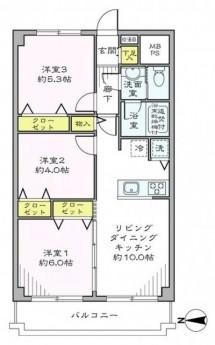 飯田橋第1パークファミリア 間取り