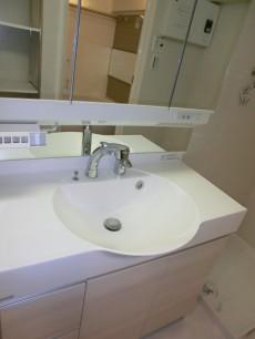 西新宿ハウス 丸いボウルが特徴的な洗面化粧台501