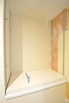 洗濯機置場横のカウンター