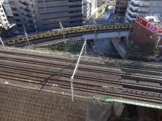 トキワパレス 眼下は線路が走っています