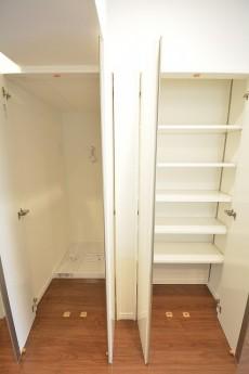 ストークマンション三田 LDK内にある収納と洗濯機置場