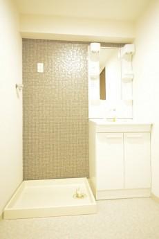 大森パークハイツ 洗面化粧台と洗濯機置場