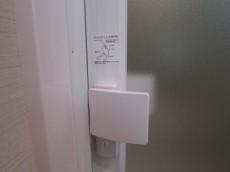 バスルームのドアにはチャイルドロック機能