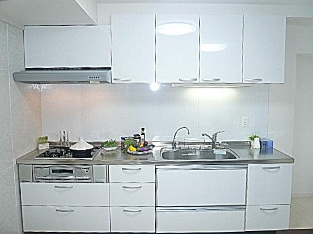 シャンボール柿の木坂 収納充実システムキッチンです。