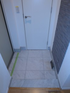 シューズインクロークが設置された玄関
