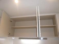 キッチン 吊戸棚収納。