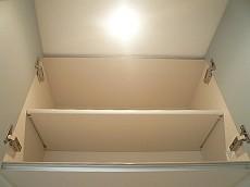 洗濯置き場 吊戸棚です。