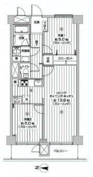 DIKマンション五反田 間取り図