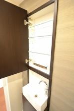 シャンボール常盤松 トイレの手洗いカウンターと収納