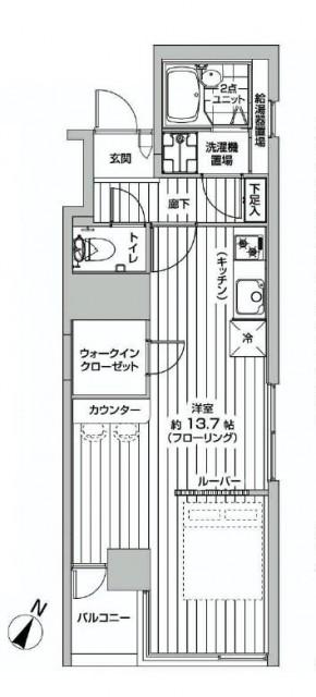 ストークビル赤坂 間取り図601