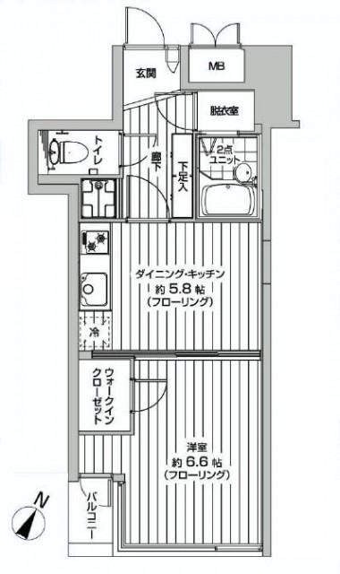 ストークビル赤坂 間取り図602