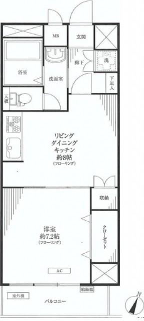 ハイネス文京本駒込 間取り204