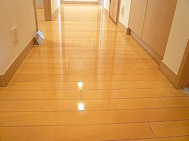 お部屋へ続く廊下
