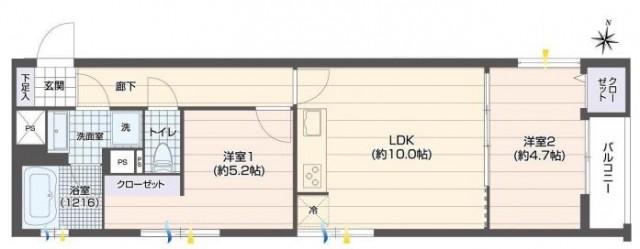 駒沢コーポラス 間取図