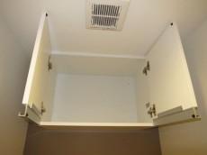 本郷壱岐坂ハイツ トイレの上部には吊戸棚付