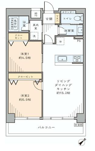 マンション第二恵比須苑 間取り514