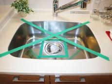 シンクの水栓は浄水器一体型