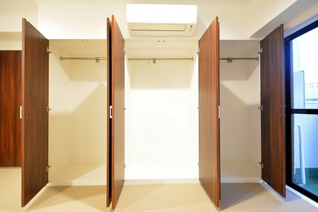ヴァンヴェール南平台 8.17帖のベッドルーム クローゼット