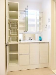 洗面化粧台とリネン庫