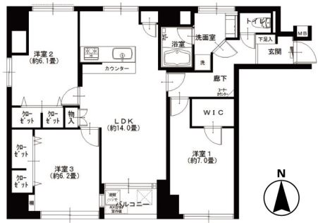 サニークレスト三田 間取図