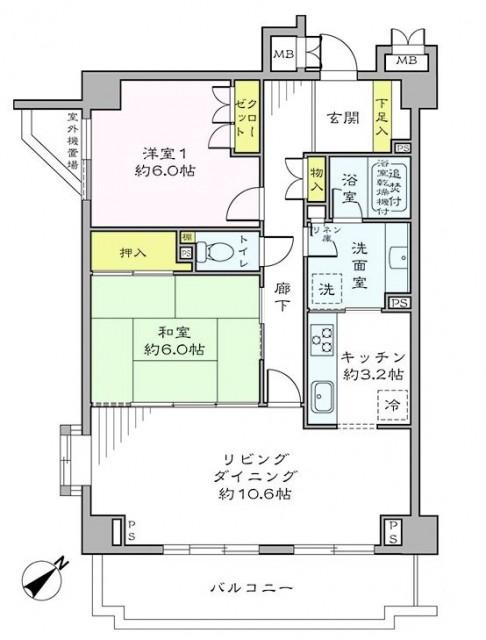 高田馬場パークハウス弐番館 間取図