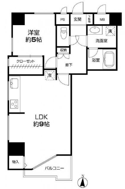 リレント新宿 間取り6階