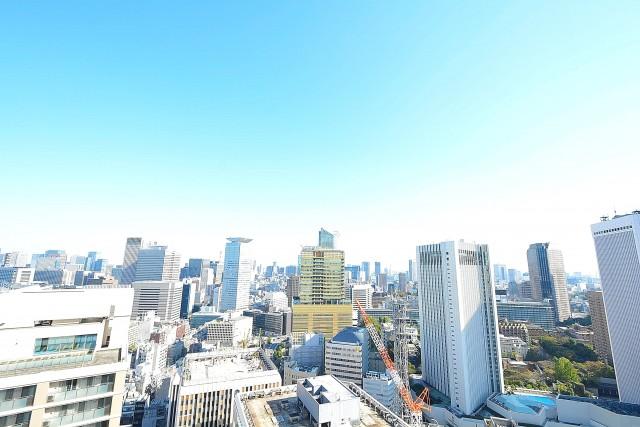 赤坂タワーレジデンス 7.4帖ベッドルームバルコニー眺望