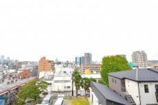 赤城神社・パークコート神楽坂 8.7帖のベッドルーム眺望
