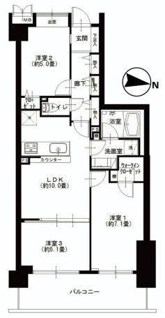 モア・クレスト荻窪 間取り図