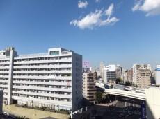 朝日江戸川橋マンション 共用廊下からの眺望