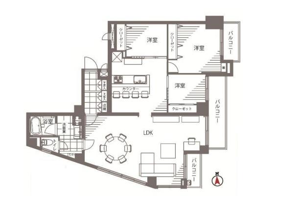 アルカディア経堂 間取図