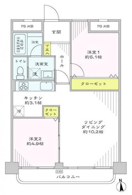 東武ハイライン西蒲田 間取り