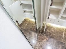 アルス目黒学芸大学弐番館 玄関ホールの鏡