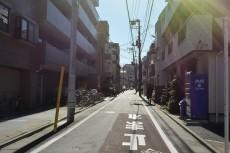 マイキャッスル大井町Ⅱ エントランス前道路