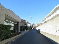 パークハイム世田谷上野毛 エントランス前道路