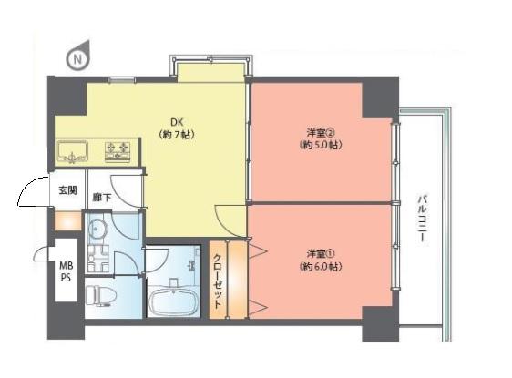 ライオンズマンション北新宿 間取り図