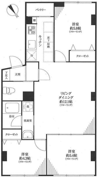 池田山ロイヤルマンション 間取り図