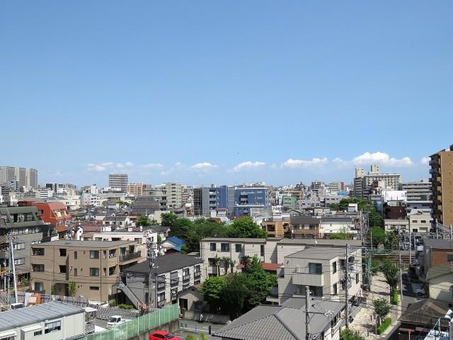 山王スカイマンション サンルームからの眺望