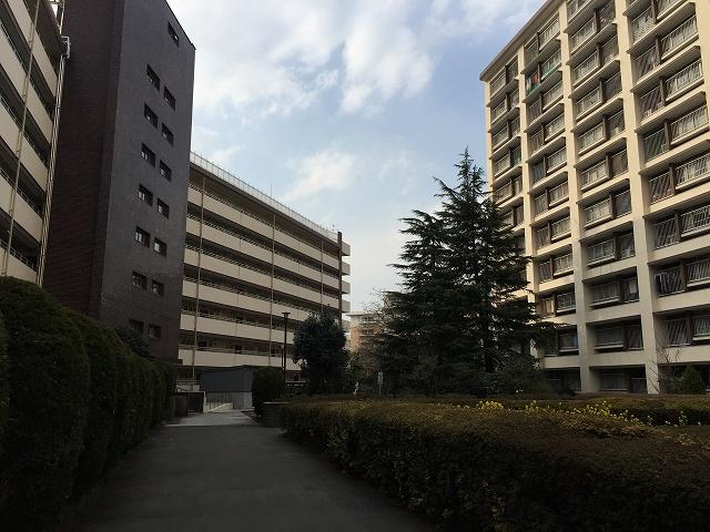 烏山南住宅 中庭