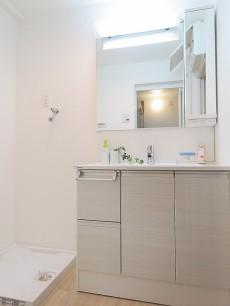 洗足ミナミプラザ 洗面化粧台と洗濯機置場