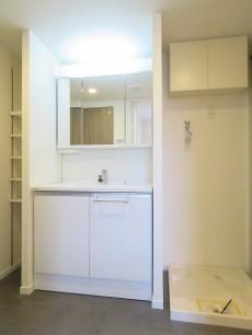 都立大コーポラス 洗面化粧台と洗濯機置場