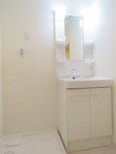 ファムール目黒 洗濯機置場と洗面化粧台