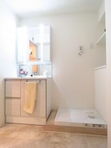 西五反田コープ 洗面化粧台と洗濯機置場